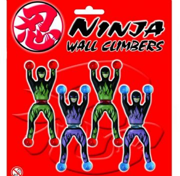 4pc Sticky Ninja Warrior Wall Climbers Child Toy Stocking Filler